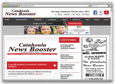 Catahoula News Booster