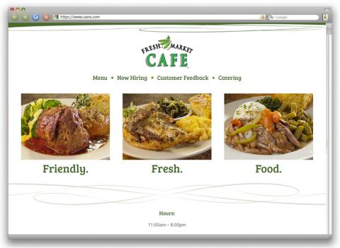 Fresh Market Cafe website